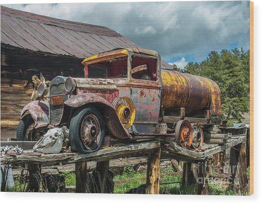 Vintage Ford Tanker Wood Print