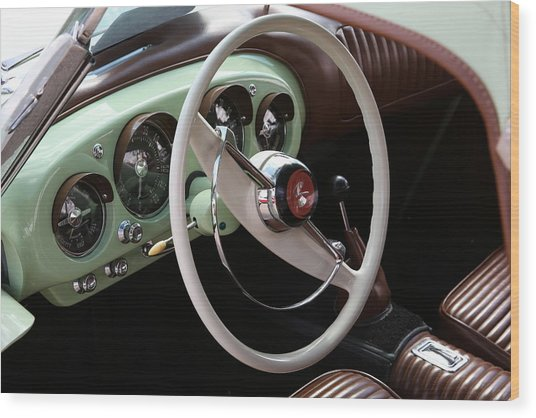 Vintage Kaiser Darrin Automobile Interior Wood Print