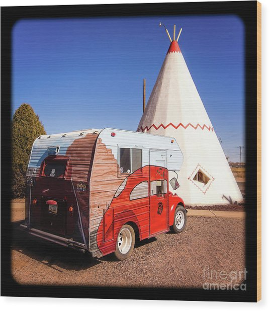 Vintage Volkswagon Beatle Camper  Wood Print