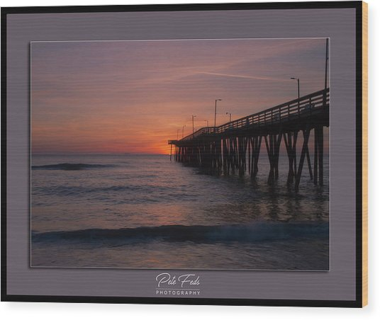 Virginia Beach Sunrise Wood Print