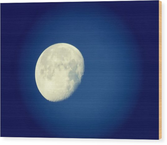Wood Print featuring the photograph Virgo Moon Three Quarters by Judy Kennedy