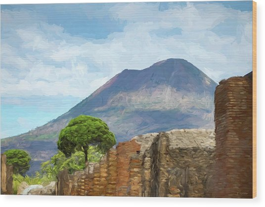 Visions Of Pompeii Wood Print by Tony Grider