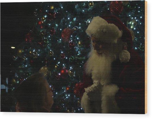 Visit With Santa Wood Print