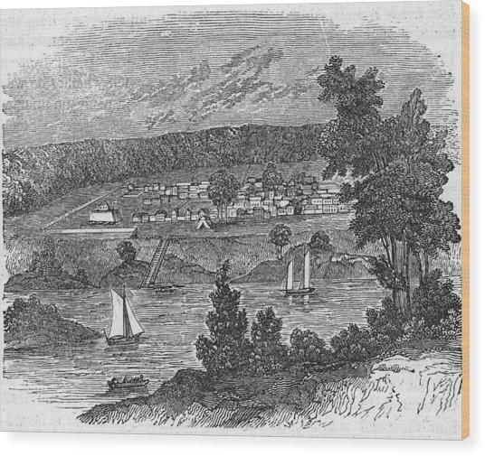 Vista Of Colonial Savannah, Georgia Wood Print by Kean Collection