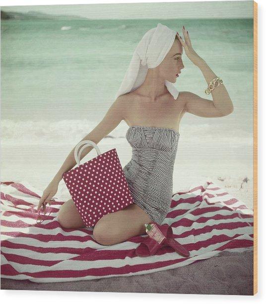 Vogue 1954 Wood Print
