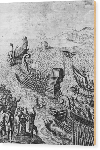Voyage Of The Argo Wood Print by Hulton Archive
