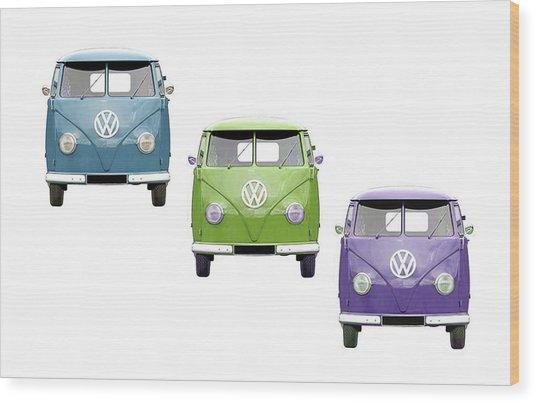 Vw Van Trio Wood Print