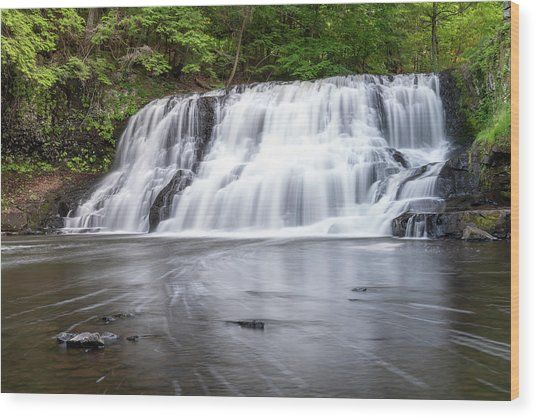 Wadsworth Falls In Middletown, Connecticut U.s.a.  Wood Print
