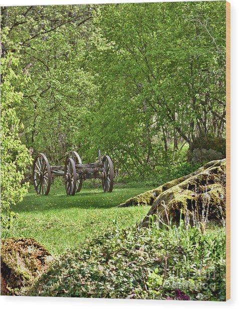 Wagon Wheels Wood Print