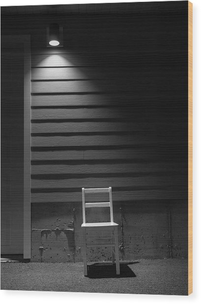 Waiting / The Chair Project Wood Print