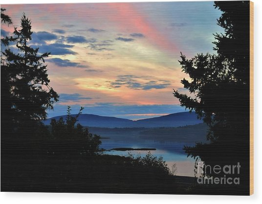 Wood Print featuring the photograph Waking Up In Maine by Patti Whitten