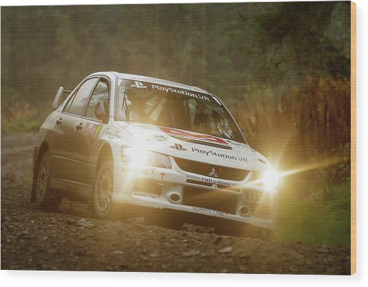 Wood Print featuring the photograph Wales Rally Gb 2016 - 92 Tony Jardine, Gbr by Elliott Coleman