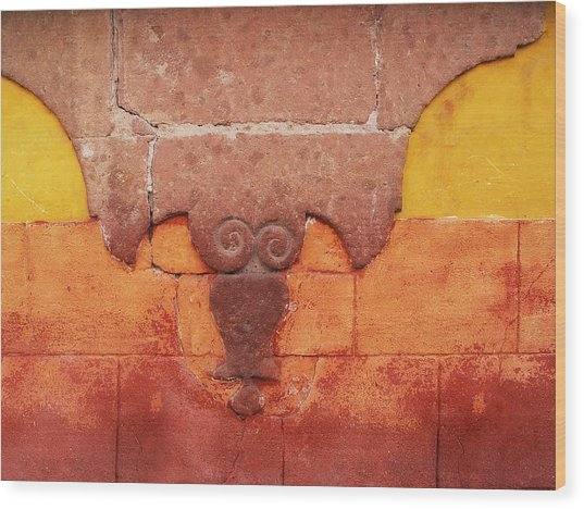 Wall In San Miguel, Mexico Wood Print by Billnoll