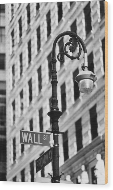 Wall Street Wood Print by Keystone