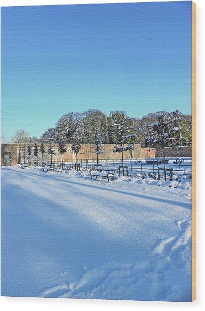 Walled Garden Winter Landscape Wood Print
