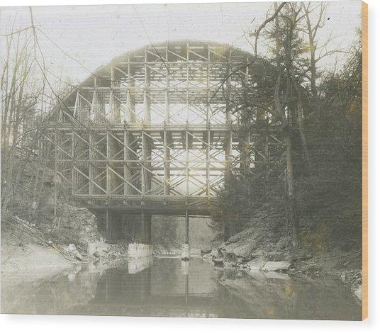 Walnut Lane Bridge Wood Print