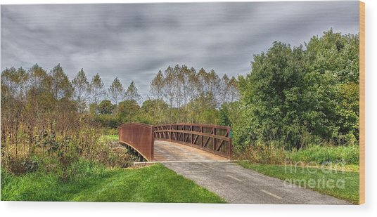 Walnut Woods Bridge - 3 Wood Print