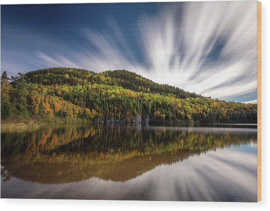 Wood Print featuring the photograph Wapizagonke Lake Reflection by Pierre Leclerc Photography