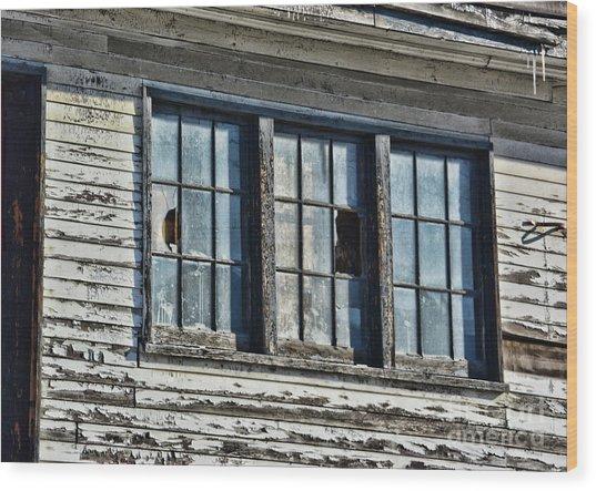 Warehouse Windows Wood Print