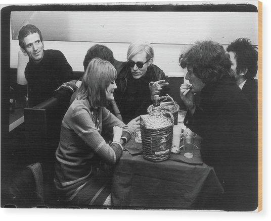 Warhol & Co. At Maxs Kansas City Wood Print by Fred W. McDarrah