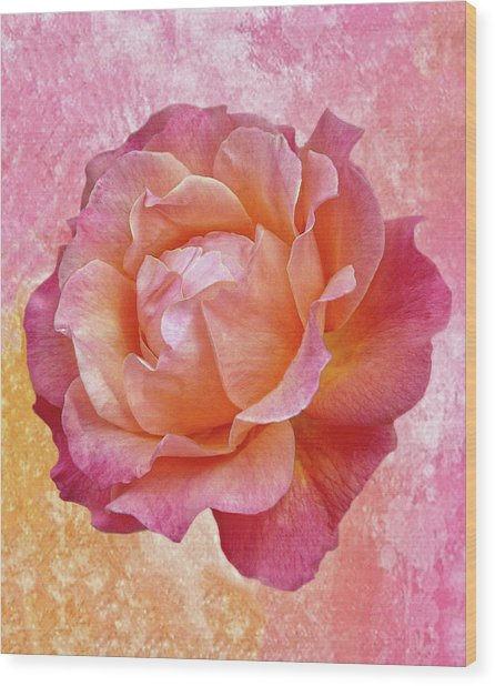 Warm And Crunchy Rose Wood Print