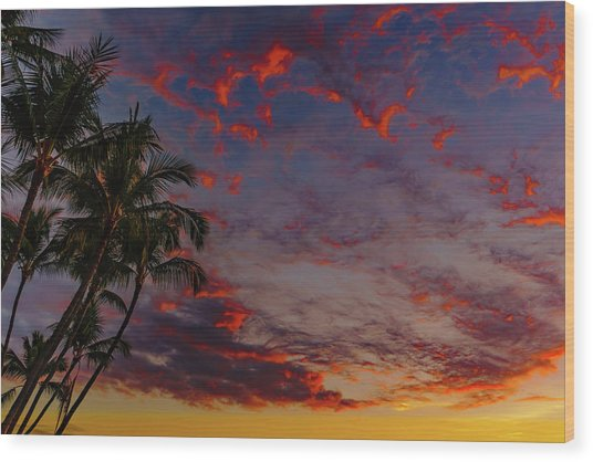 Warm Sky Wood Print