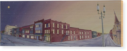 Wood Print featuring the painting Washington, Iowa by Scott Kirby