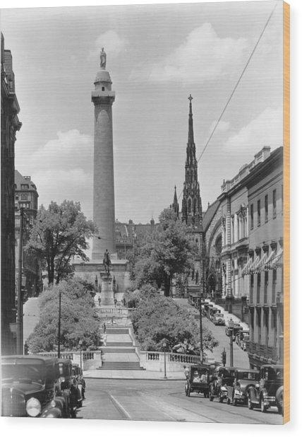 Washington Monument Wood Print by Keystone