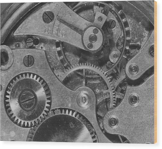 Watch Cogs Wood Print by Fox Photos