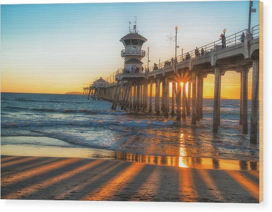 Watching The Sunset Wood Print by Fernando Margolles