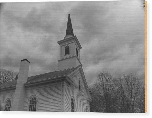Waterloo United Methodist Church - Detail Wood Print