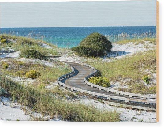 Watersound Beach Dune Boardwalk Wood Print