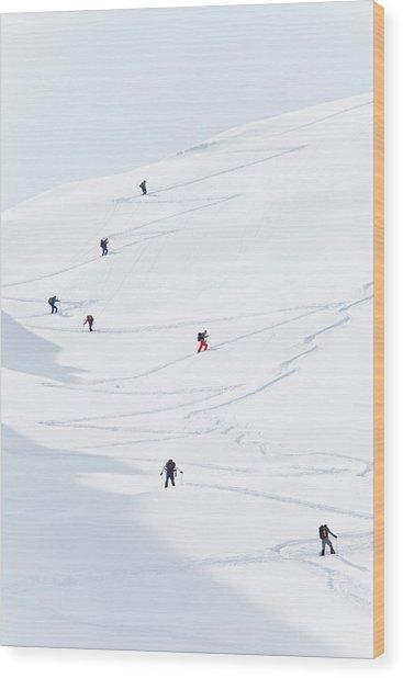 Watzmannkar, Ski Touring Wood Print