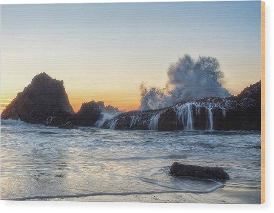 Wave Burst Wood Print