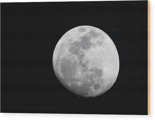 Waxing Gibbous Wood Print