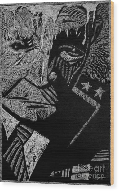Weary Warrior. Wood Print