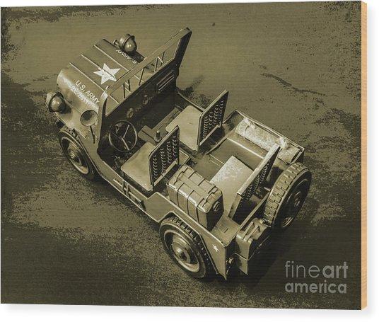 Weathered Defender Wood Print