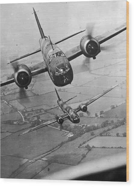 Wellington Bombers Wood Print by Topical Press Agency