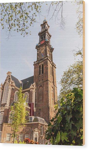 Westerkerk In Amsterdam Wood Print