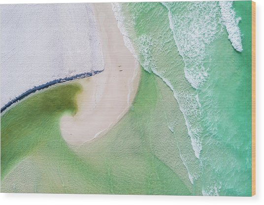 Western Lake Meets The Gulf Wood Print