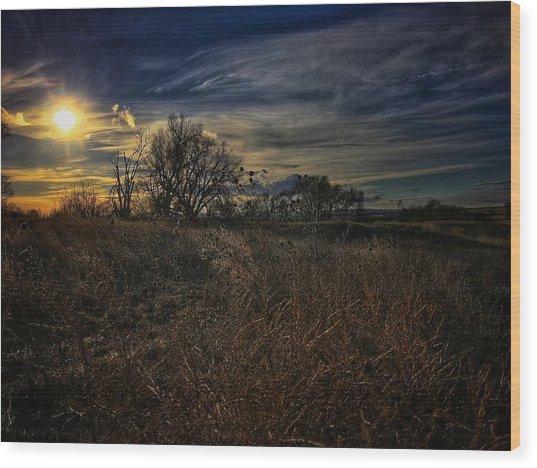 Wood Print featuring the photograph Western Nebraska Winter by Dan Miller