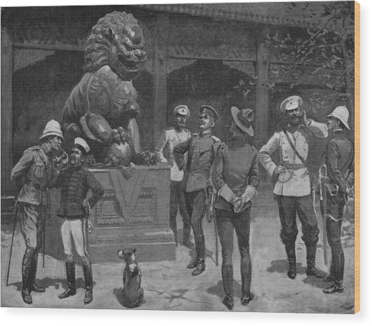 Westerners At The Gates Wood Print by Hulton Archive