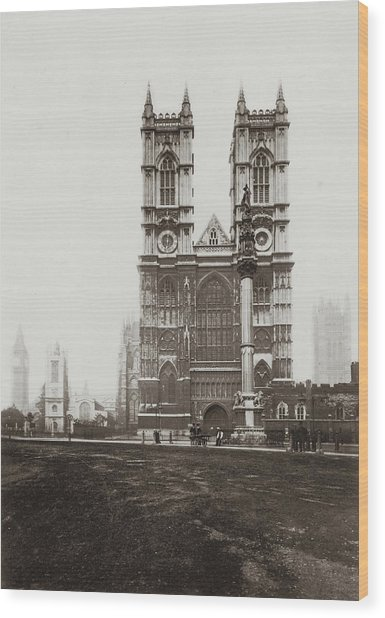 Westminster Abbey Wood Print by Otto Herschan Collection