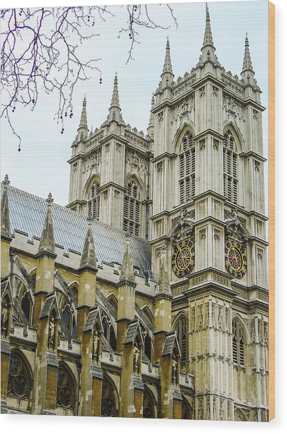 Westminster Abbey Wood Print