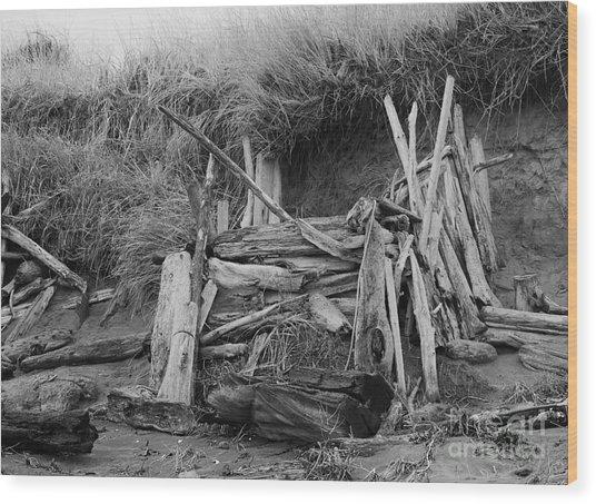 Westport Hut Wood Print