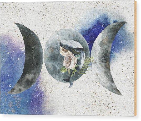 Whale Goddess Wood Print