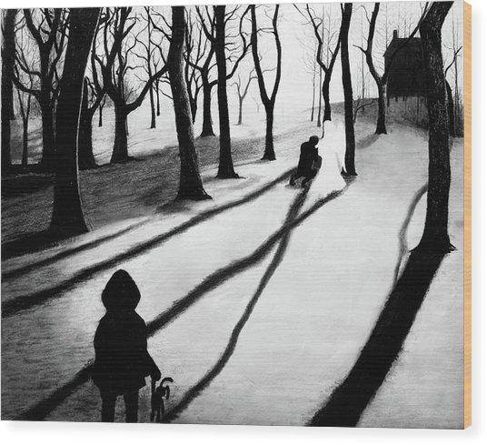When She Returned... She Saw An Angel - Artwork Wood Print