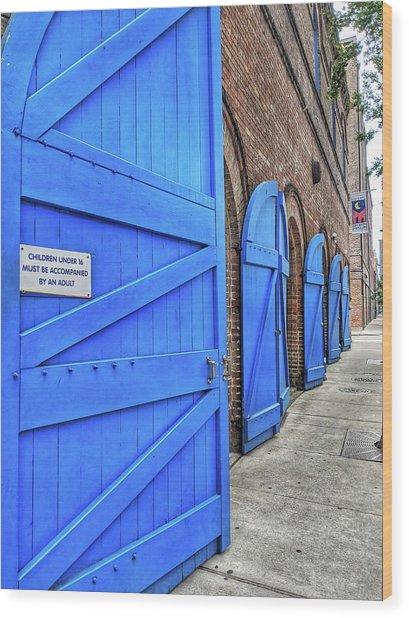 Which Blue Door Wood Print