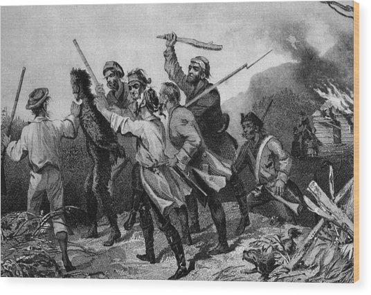 Whiskey Rebellion Wood Print by Kean Collection