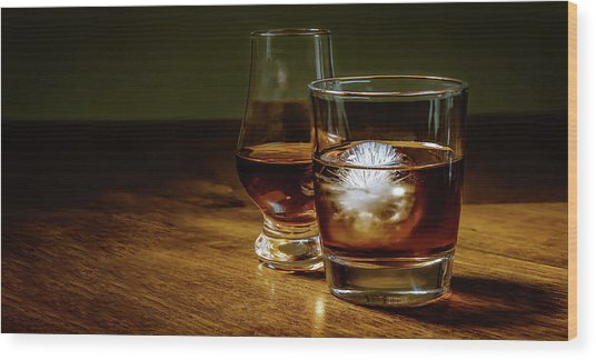 Whisky For Two Wood Print